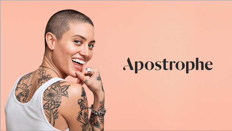 Apostrophe designed by Character