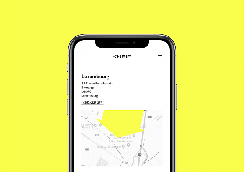 Kneip designed by Moving Images